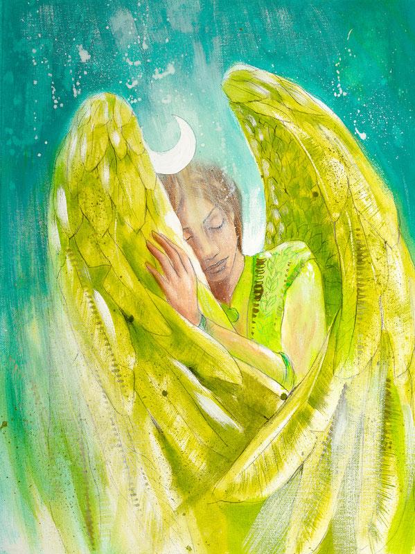 Engelbild Engel der Heilung / Guter Schlaf, Jana Haas, Engelkartendeck Ein Engel für dich Arkana Verlag