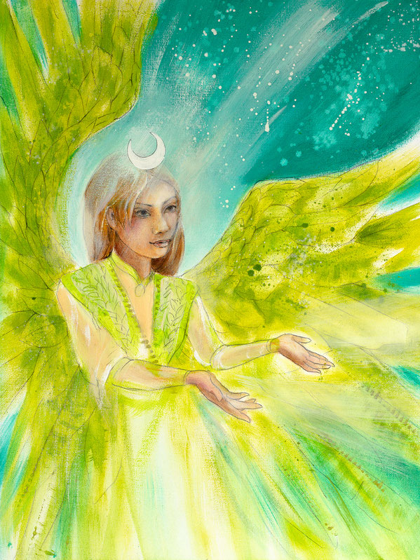 Engelbild Engel der Heilung / Unterstützung, Jana Haas, Engelkartendeck Ein Engel für dich Arkana Verlag