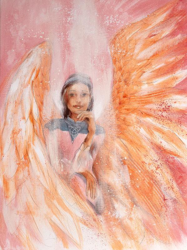 Engelbild - Schutzengel / Seelenplan, Jana Haas, Engelkartendeck Ein Engel für dich Arkana Verlag