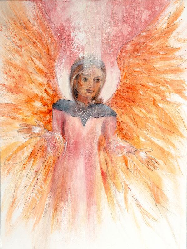 Engelbild - Schutzengel / Harmonie, Jana Haas, Engelkartendeck Ein Engel für dich Arkana Verlag
