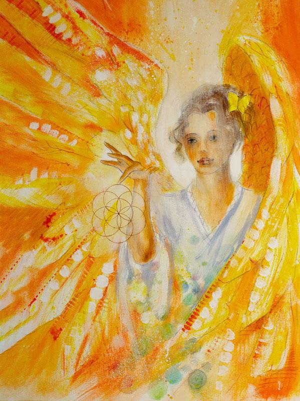 Engelbild - Engel der Kreativität / Fokussierung, Jana Haas, Engelkartendeck Ein Engel für dich Arkana Verlag