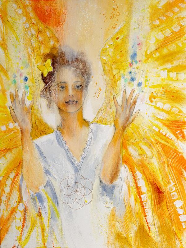 Engelbild - Engel der Kreativität / Lebenskraft, Jana Haas, Engelkartendeck Ein Engel für dich Arkana Verlag