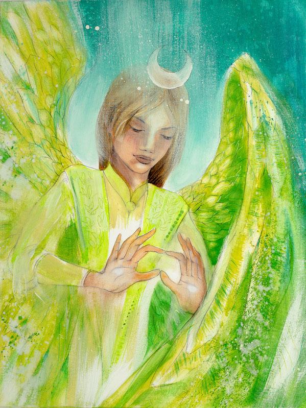 Engelbild Engel der Heilung / Frieden, Jana Haas, Engelkartendeck Ein Engel für dich Arkana Verlag