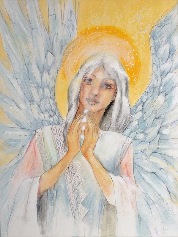 Engelbild - Engel der Stabilität / Gemeinschaft, Jana Haas, Engelkartendeck Ein Engel für dich Arkana Verlag