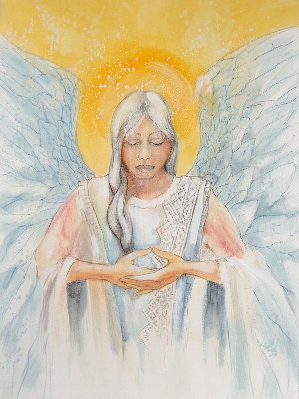 Engelbild - Engel der Stabilität / Fürsorge, Jana Haas, Engelkartendeck Ein Engel für dich Arkana Verlag