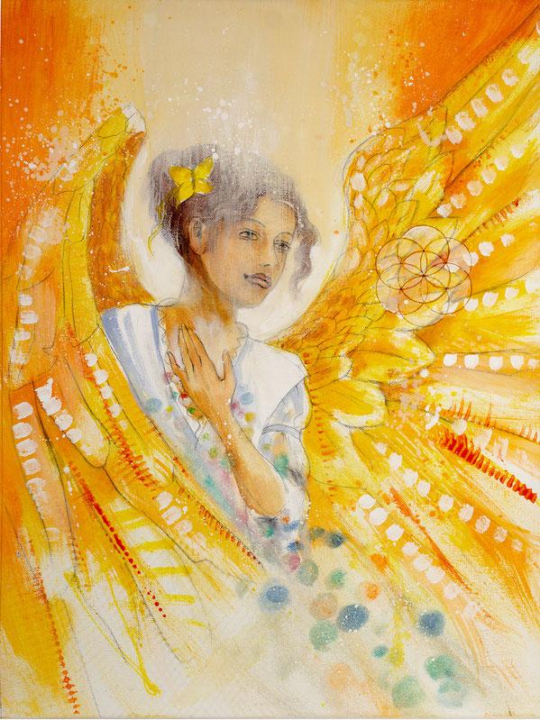 Engelbild - Engel der Kreativität / Freudiges Herz, Jana Haas, Engelkartendeck Ein Engel für dich Arkana Verlag