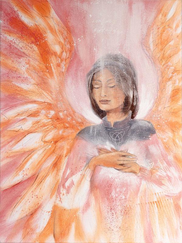 Engelbild - Schutzengel / Friedvolles Herz, Jana Haas, Engelkartendeck Ein Engel für dich Arkana Verlag