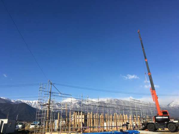 薪ストーブショールーム 安曇野市 建築家 建築設計事務所 店舗設計 現場監理 建て方