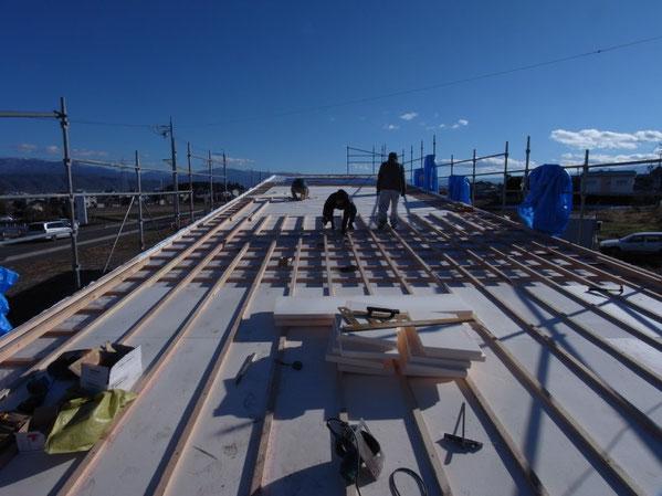 薪ストーブショールーム 安曇野市 建築家 建築設計事務所 店舗設計 現場監理 屋根工事