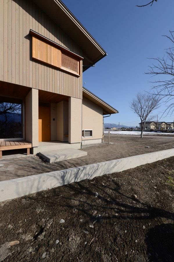 三郷の家Ⅱ(安曇野市) 安曇野市 建築家 建築設計事務所 店舗設計 信州産カラマツT&Tパネル