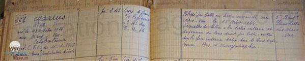 Lors de nos travaux aux Archives nationales des Armées en 2013, nous retrouverons le registre des blessés du Var et les soins apportés au résistant René MARIUS.