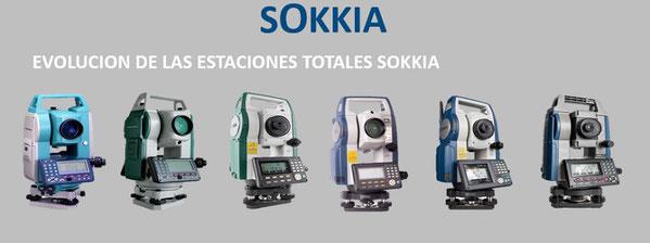 evolucion estaciones totales sokkia