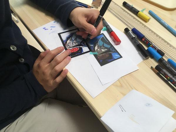 オープン記念ワークショップ第一弾「プラ版でつくるキーホルダー制作!」