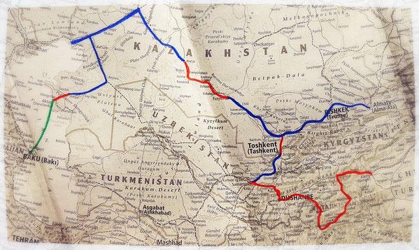 Asie centrale, voyage à vélo, laetitia, bike touring, itinéraire, entreicietla