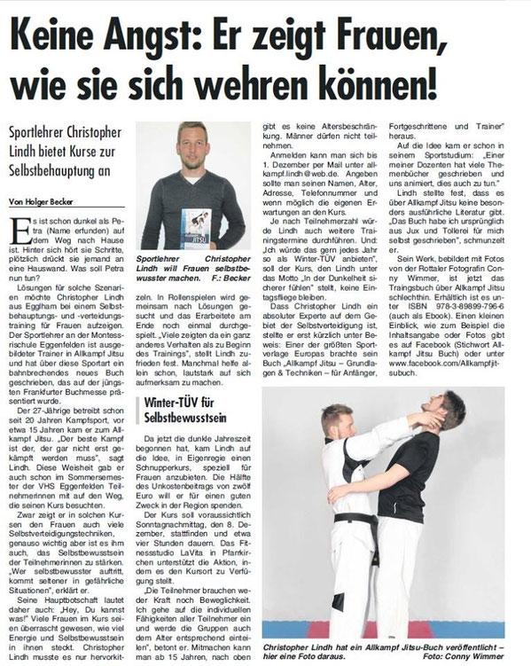 "lindh bürgermeister buch ""In der Dunkelheit sicherer fühlen"" Riedl Pfarrkirchen, Allkampf Jitsu Winter-Tüv sportlehrer"