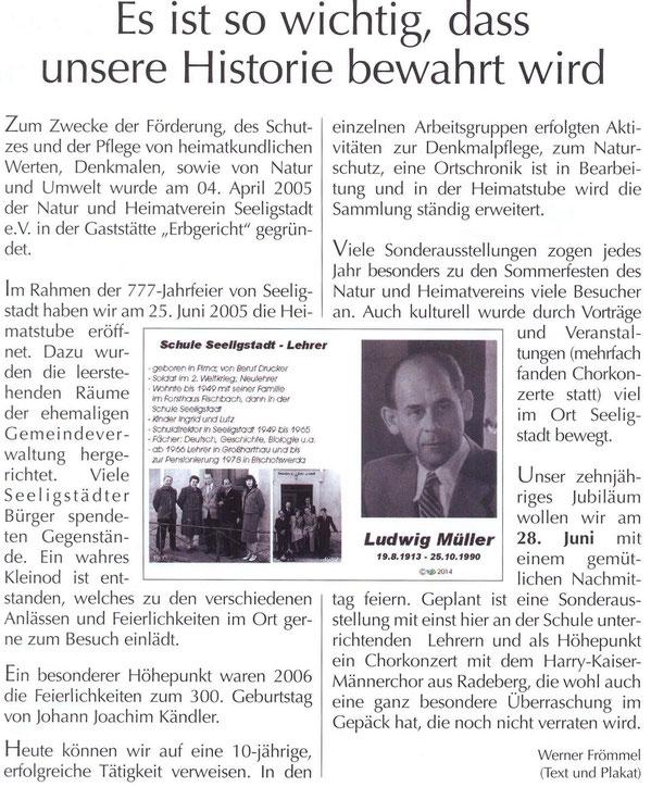 Bild: Teichler  Seeligstadt Lehrer Frömmel