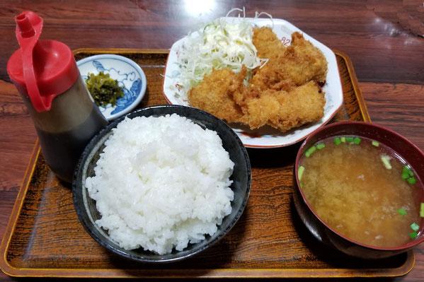 魚フライ定食(600円・2018年8月)