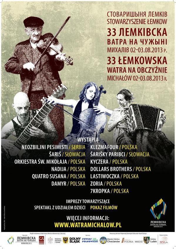 XXXIII Łemkowska Watra na Obczyźnie Michałów 2-3 sierpnia 2013