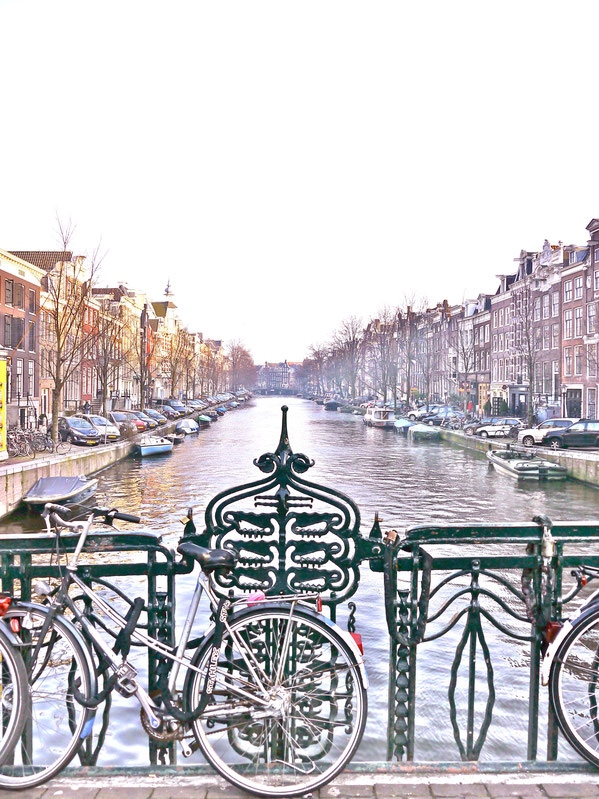 Amsterdam: Winterstimmung an der Gracht