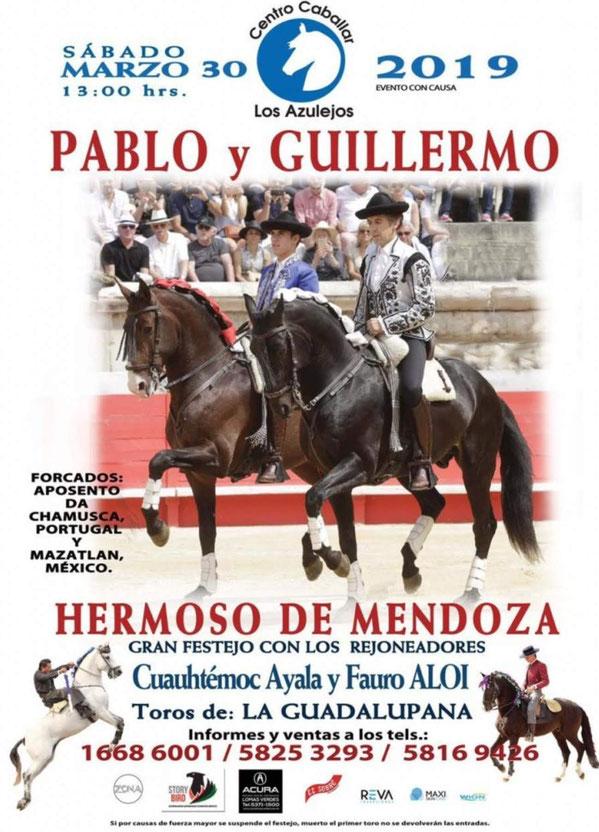 Corrida Centro Caballar Los Azulejos, 30 Março - México, onde se estreou GFAAC pela 1° vez em terras Mexicanas no dia 10 de Março 2018