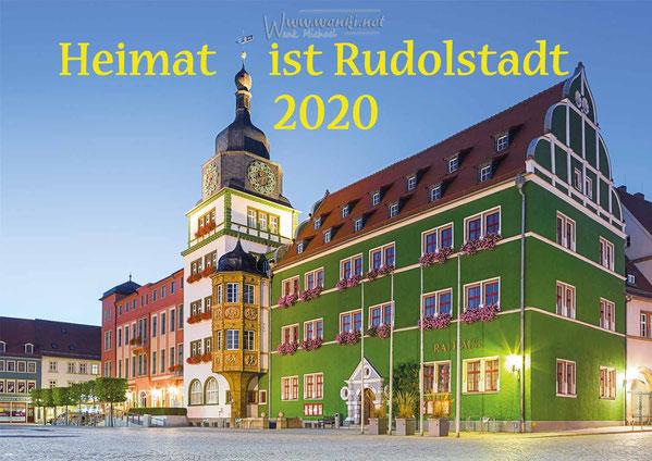Heimat ist Rudolstadt der Kalender, das Rathaus von Rudolstadt, Thüringen