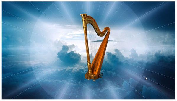 Les 24 anciens tenant chacun une harpe chantent un cantique nouveau à la gloire de Jésus-Christ, l'Agneau de Dieu, le sauveur de l'humanité, celui qui a racheté les 144'000 fidèles chrétiens pour en faire des rois et des prêtres et régner sur la terre.