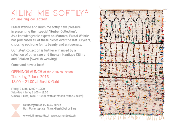 Opening Kilim me softly 2016, vernissage Kilim me softly, kilimmesoftly.ch, 2-5 Juni 2016