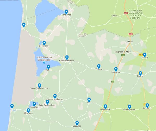 Zone distribution Le mag' Nord Landes  Ze mag - Zemag
