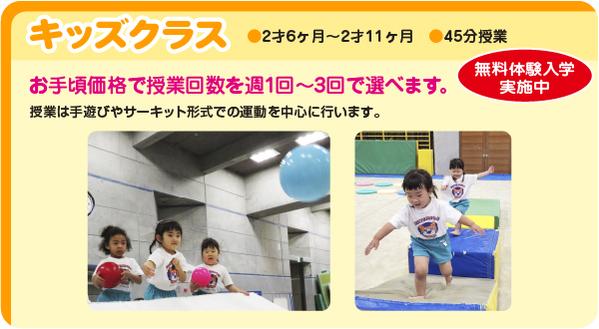 体操教室,2才6ヶ月〜2才11ヶ月