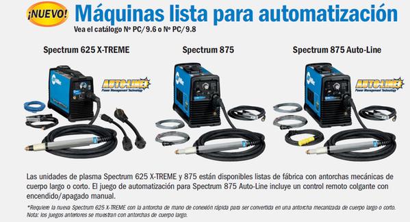 Spectrum 625 X-TREME Spectrum 875 Spectrum 875 Auto-Line