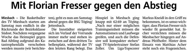 Artikel im Miesbacher Merkur am 19.1.2019 - Zum Vergrößern klicken