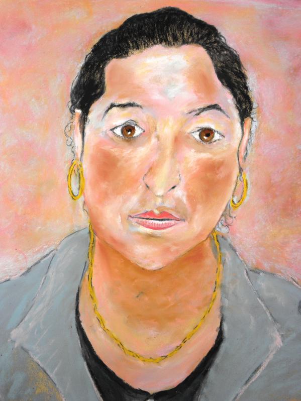 43 Maria - Portrait - Pastel 2014 Version 2 FINAL Détail