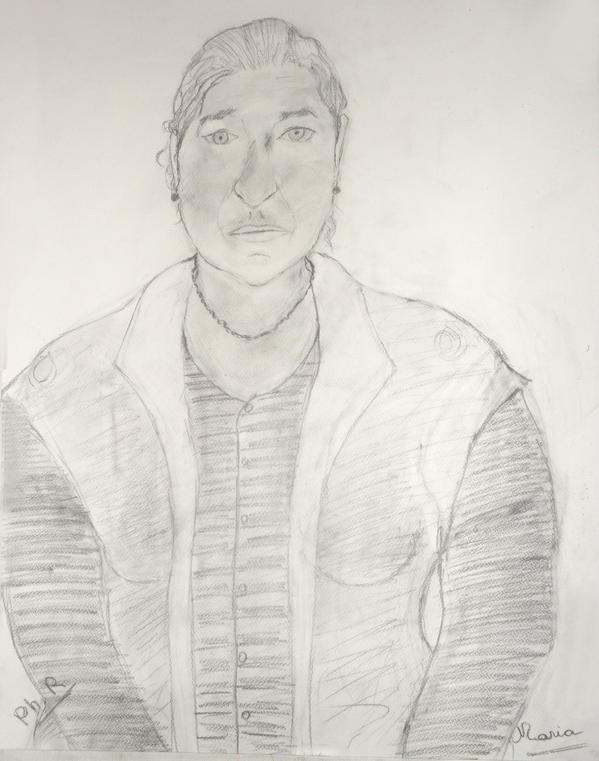 43 Maria - Portrait - Dessin Mine de Plomb 2014