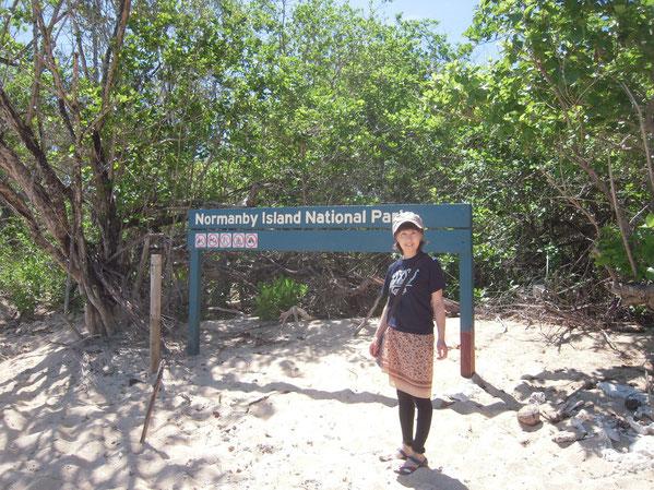 ノーマンビー島での写真