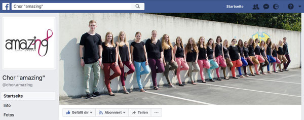 Jugendchor amazing auf Facebook