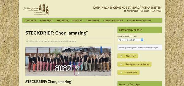 amazing auf Kath. Kirchengemeinde St. Margaretha Emstek