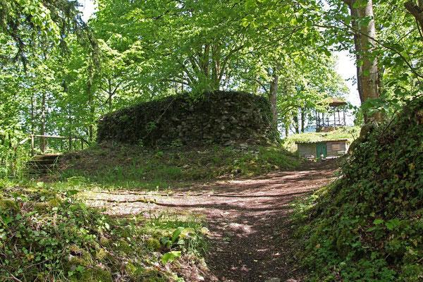 Mauerreste der Ruine