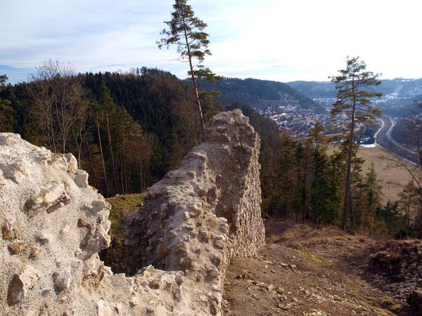 Blick auf Epfendorf / Ruine Schenkenberg