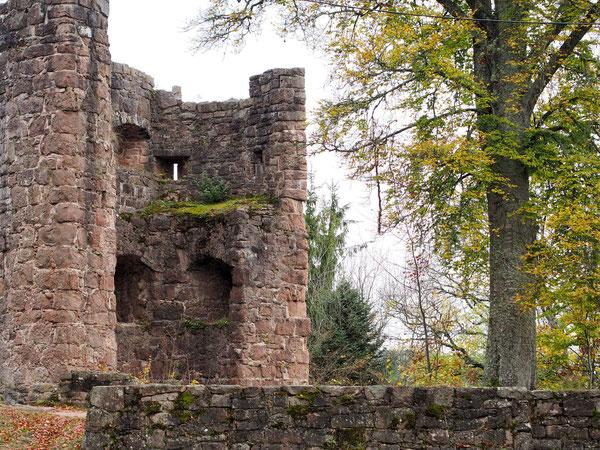 Ruine mit Blick auf Schramberg und Sulgen