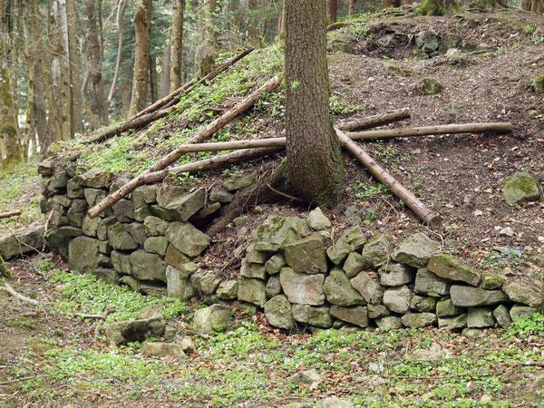 Herausgebrochene Mauer, Ruine Rotenzimmern