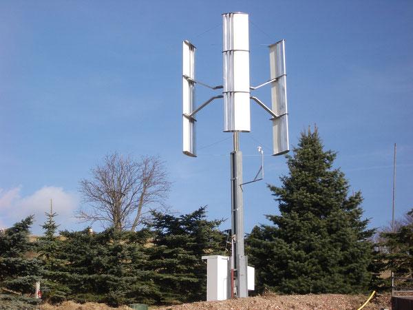 Vertikale Kleinwindkraftanlage im Test-/Versuchsstatium