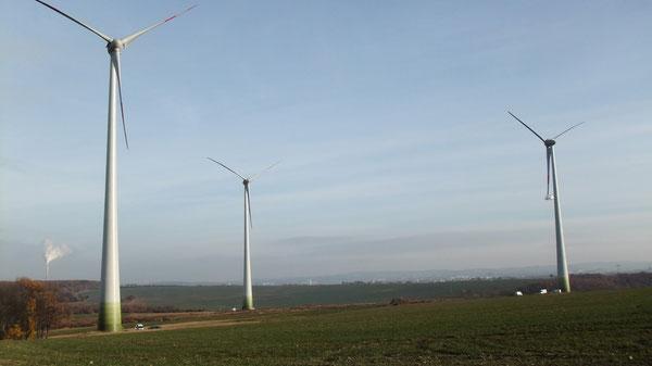 Windenergieanlagen ENERCON E 82; Nabenhöhe 108 m , Rotordurchmesser 82 m