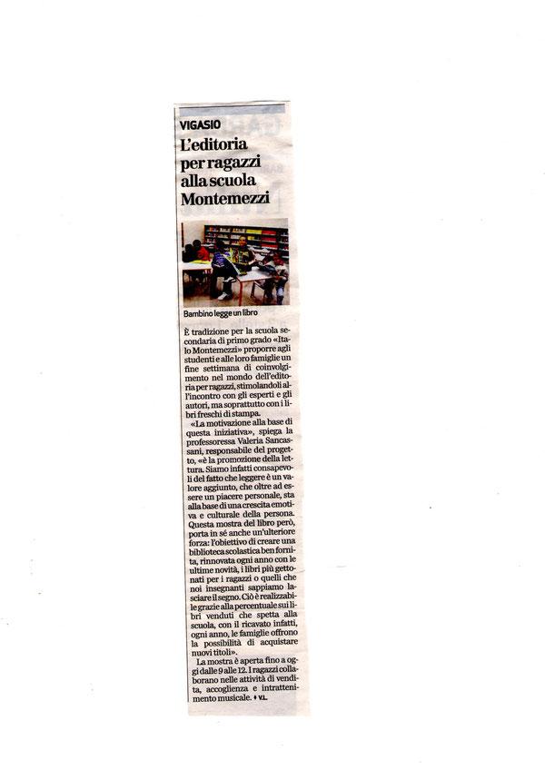 Articolo apparso sul giornale l'Arena nel 2011