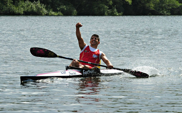 Alejandro Sanchez Cobos celebrando la victoria. Foto: C.J.Cooper