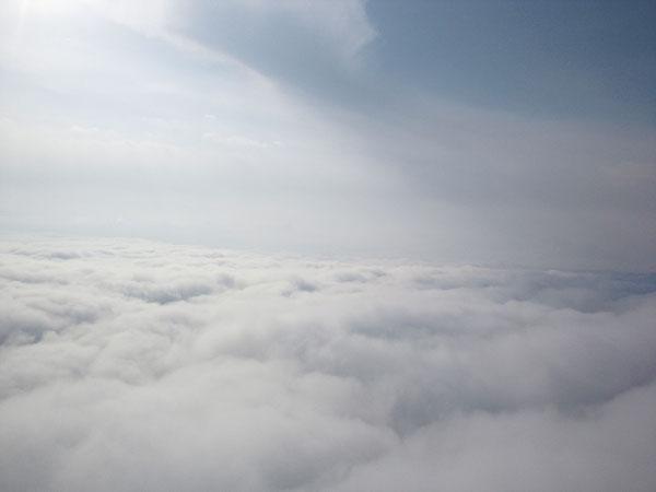 上空1000mからの雲海