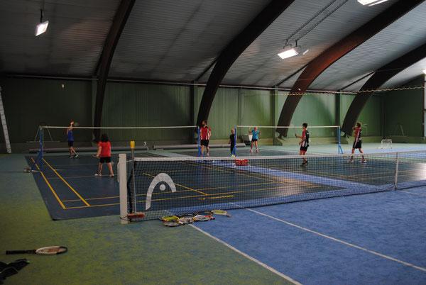 Unsere Badminton-Plätze im Sommer