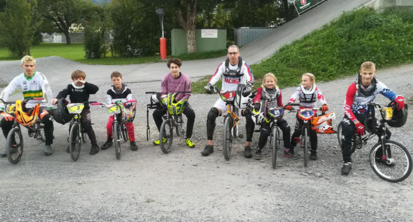 Die Finalisten des 4. Laufes zum BMX-Vereinscup