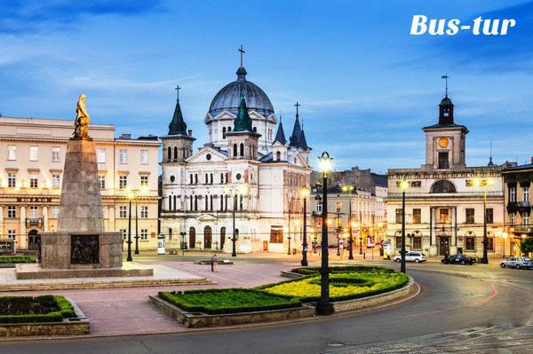 перевозки поездки в Лодзб Польша, из Лодзи