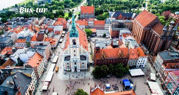 перевозки поездки в Торунь Польша, из Торуни