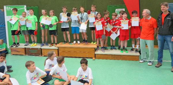 Die vierten Klassen: Grundschule Schunterwiesen-Heiligendorf (von links), Grundschule Ehmen-Mörse, Grundschule Schunterwiesen-Hattorf